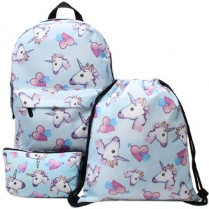 b99cc74721fb 3 in 1 Colorful Unicorn Students Backpack Cartoon Panda Children School  Bags Backpack for Teenager Girls Book Bag Women Laptop Backpack Travel Bag