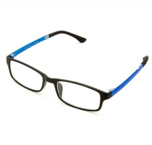 fbe33d9fd84 Cyxus Anti Blue Light Blocking UV TR90 Lightweight Glasses Better Sleep  Anti Eye Strain Relieving Headache Unisex Computer Eyewear Black Frame  Royal Blue ...