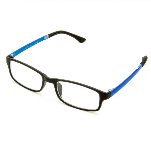 0143c0d029 Cyxus Anti Blue Light Blocking UV TR90 Lightweight Glasses Better Sleep  Anti Eye Strain Relieving Headache Unisex Computer Eyewear Black Frame  Royal Blue ...