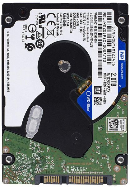 WD 2TB Laptop Hard Drive SATA 6Gb/s 128MB Cache 2 5-Inch 7mm Internal  (WD20SPZX)