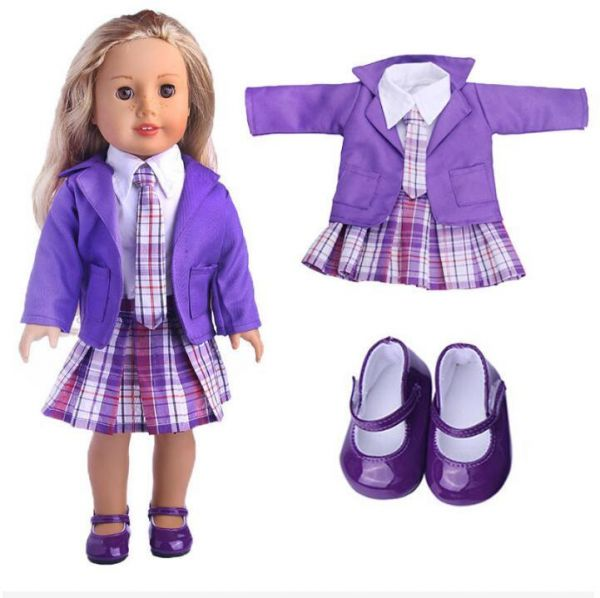 1set Clothes Shoes American Girl Doll Clothes 18 Inch Doll Clothes And Accessories Dresses
