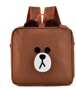 Kids knapsack Kindergarten Cartoon square schoolbag bear bag fd7d417df7259