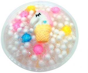 Cartoon Unicorn Colorballs Cotton Crystal Slime Fluffy Slime Stress Relief Toy Scented Sludge Toy