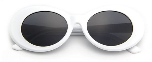 b75a5829cbb4e Clout Goggles Glasses Oval Sunglasses with Retro Bold Mod Thick Framed  Round Lens. by Other