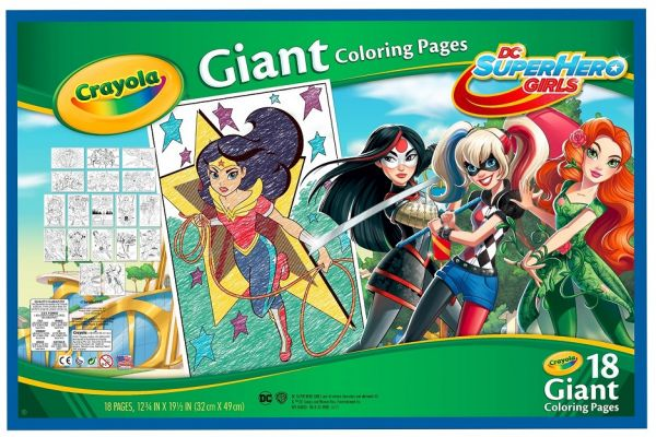 Crayola Giant Coloring Pages, Dc Girls Superhero, For Kids