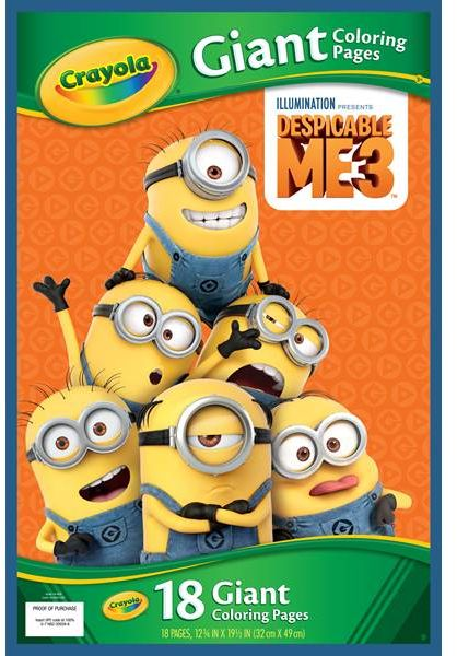 Crayola Giant Coloring Pages, Despicable Me, For Kids   Souq - UAE