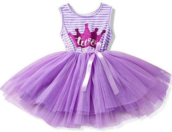 6f2dae8bd1 Princess Baby Girls Birthday Dress Casual Outfit 2 Years Birthday Baby  Toddler Dresses Clothes Stripe Summer Clothing