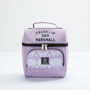 Franklin   Marshall Printed Lunch Bag with Zip Closure dd630a988daf8