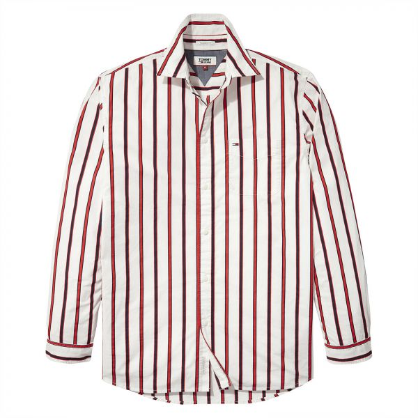 ecad67d0c715 Tommy Hilfiger Shirt for Men - Red   White
