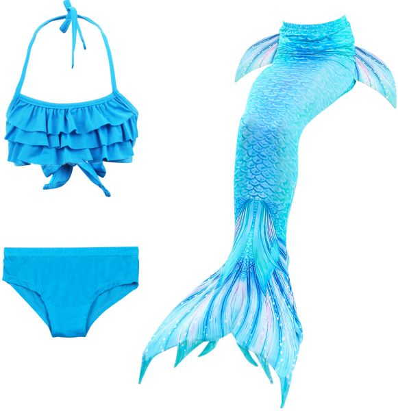 a2c16995a6 3Pcs/set Baby Girls Kid Mermaid Tail Dress Costume Mermaid Tail Cosplay  Costume Swimsuit Mermaid Costume Cloth Tail Bathing Suit | Souq - UAE