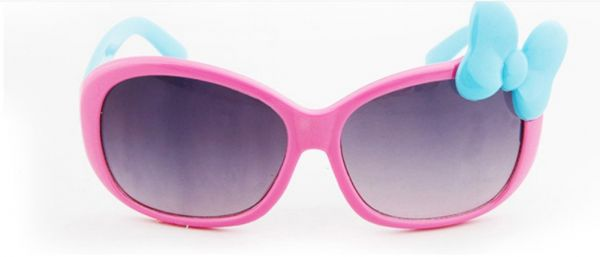 Children Cartoon Glasses Baby Boys Girls Cute Bow Pink Sunglasses