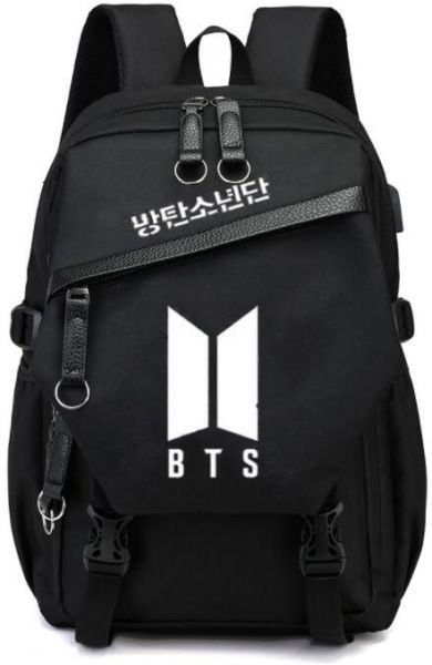 BTS design Multifunctional fashion cool Laptop Travel canvas Backpack ,High  College School Bookbag with USB Charging Port,Fits UNDER 15.6