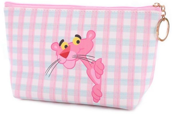 Trapezoid Portable Travel Toiletry Pouch Leopard Pink Cosmetic Bags  Multifunction Clutch Bag 716f38a190958
