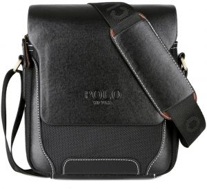 98ab9cfbd5d2 Mens Messenger Bag Leather Casual Travel Simple Style Shoulder Bag  Crossbody Bag