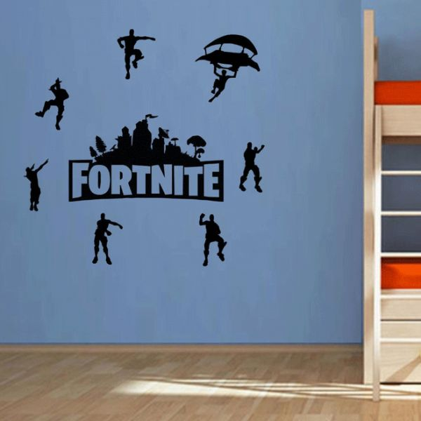 Diy Black Fortnite Wall Stickers Self Adhesive Bedroom Living Room