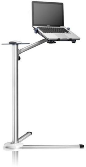 360 Degree Rotation Up 7 Height Adjustable Laptop Floor Stand With