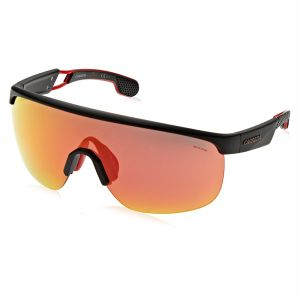 lower price with sold worldwide release info on Carrera Wrap Around Sunglasses for Men - Red Lens, 4004/S-00399W3