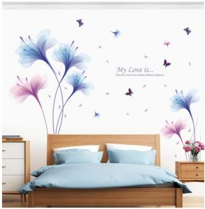 The Romantic Dream Orchids Removable Wall Paper For Home Decor Waterproof Wallpaper For Living Room Baby Kids Girls Bedroom Decorative Diy Wall