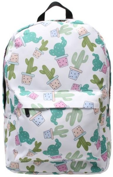 Women Girl Cute Cactus Backpack Polyester School Bags Backapck Laptop Baos Travel  Rucksack Daypack Shoulder Bags  44fed34a8959c