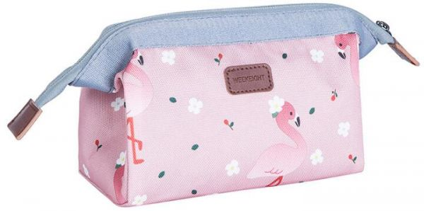 0456202acc81 Ladies Steel Frame Cosmetic Bag ,Women Girls Large-capacity Travel Makeup  Pouch (Pink Flamingo)