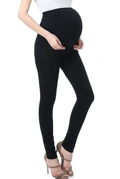 4a70a8fc6f3 Women Pregnant Pants Elastic Maternity Skinny Adjustable Leggings Trousers  Slim for Women Black XL