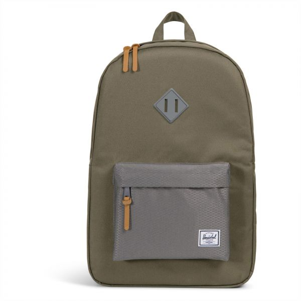 Herschel 10007-02134-OS Heritage Unisex Casual Daypacks Backpack - Ivy  Green Smoked Pearl 0ba5666f75