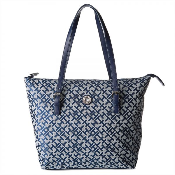 Tommy Hilfiger Bag For Women Navy Tote Bags