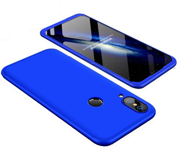 on sale 10b5c 66a16 Xiaomi A2 Lite / Xiaomi Mi 6 Pro case 360 Degree 2 pieces Silicon products  front And back With Out Screen - Blue