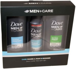 a6b788a9d39f Dove Men+Care Daily Trio Gift Set Body   Face Wash Clean Comfort 250ml +  Clean Comfort Deo Spray 150ml + Body   Face Wash Extra Fresh 250ml