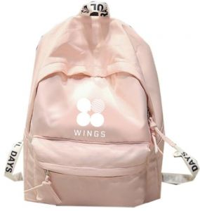 ec8f717ce45 BTS Bangtan boys School Bookbag backpack Travel Rucksack Fans Pink bag for  women and girls