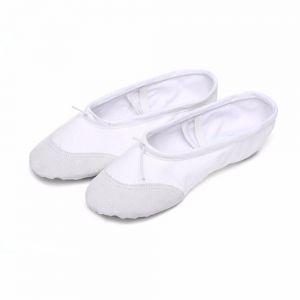 ca19460b508 Ballet Slippers Canvas Dance Shoes Gymnastics Yoga Flats(Toddler) white