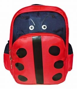 35550e16885a Nursery and school backpack   3D bee design  red