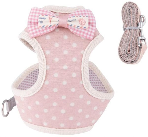 Small Dog Harness and Leash Set for Puppy Small Medium Dogs Cats ‫(M)