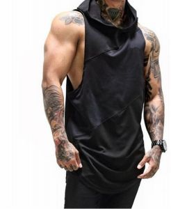 022bf786a4d7b Mens Gym Stringer Tank Top Bodybuilding Athletic Workout Muscle Quick Dry  Fitness Vest Black L