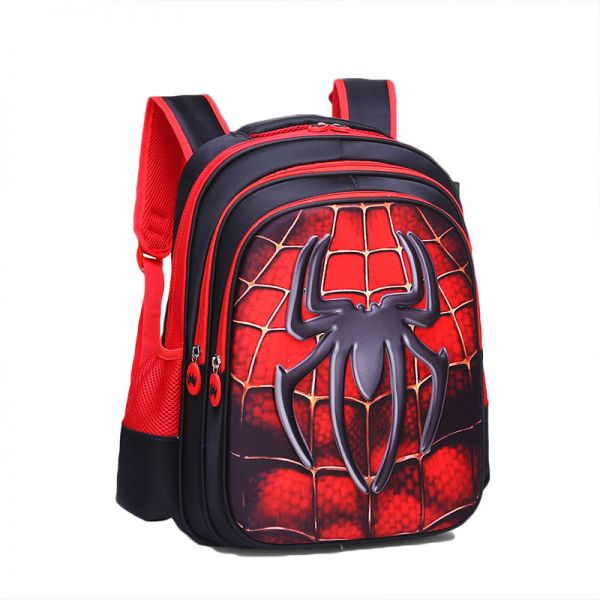 f92db1f76f63 Spiderman 3D School Backpack Waterproof Bookbag For Kids Age 7 To 12 Year