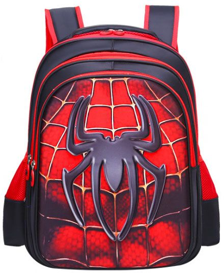 716757b1bcac Spiderman 3D School Backpack Waterproof Bookbag For Kids Age 7 To 12 Year  School Backpack For Boys Students