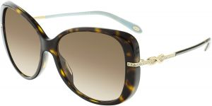 68cf0c8448fa Tiffany And Co. Women s TF4126B-81343B-57 Brown Butterfly Sunglasses