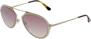 12e8b0fea562 Tom Ford Gradient Dashel FT0508-28Z-53 Gold Aviator Sunglasses