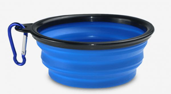 Silicone Pet Bowl, Food Grade Silicone,BPA Free Foldable Expandable Cup Dish for Pet Dog/Cat Food Water Feeding Travel Bowl Blue