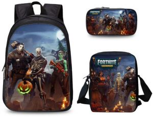 3PCS  set student Printed Game Fortnite Backpack School Bags For Girls and  boys Travel Students nylon School Shoulder Bag Backpack Causal Laptop Bag 0ba4a4cdf4bd1