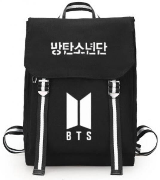 BTS Bangtan boys School student Bookbag backpack Travel Rucksack Fans Fits  up to 15 6 inch Laptop Black bag for women , girls ,boys and men,black