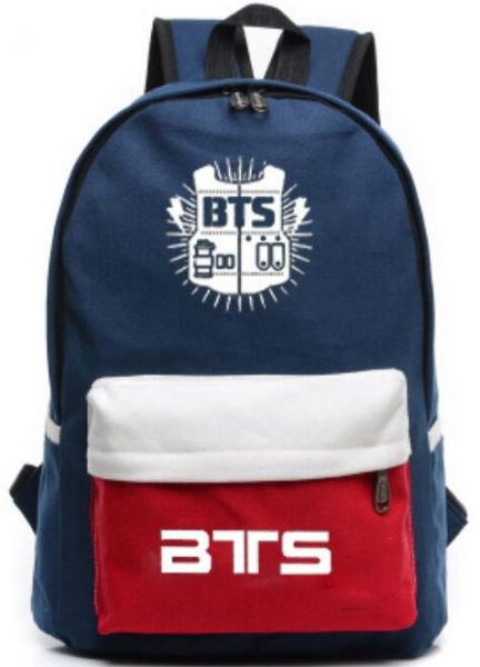KPOP BTS Bangtan boys Casual canvas School student Bookbag backpack ...