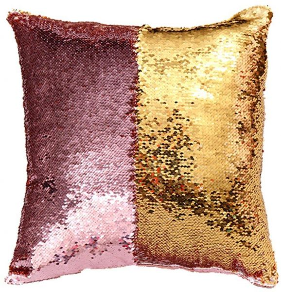 gold sequin pillow covers