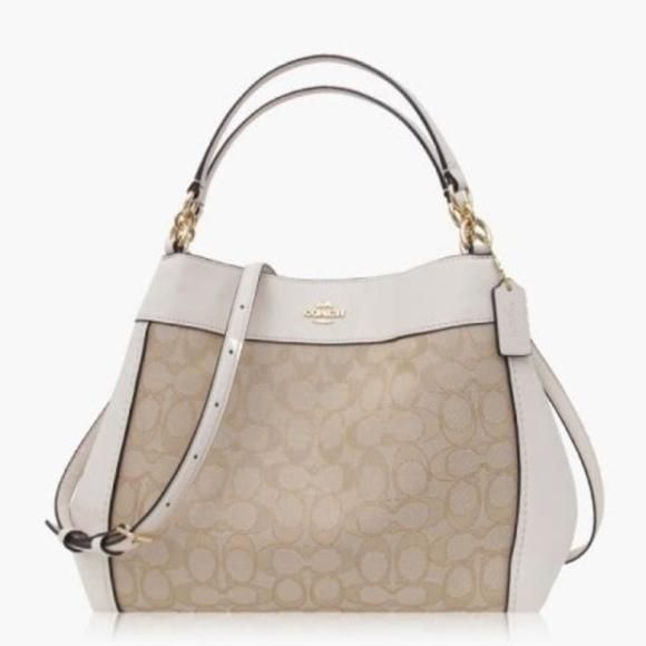 72c2f9da75bf Coach F29548 Lexy Shoulder Bag Light Khaki   Chalk