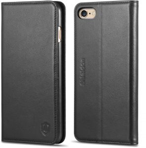 iPhone 6/6s plus leather case, SHIELDON Genuine Leather Wallet Case and Folio Book Cover case compatible with iPhone 6/6s plus Standing ID Credit Card Slots ...