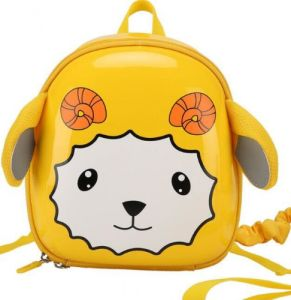 ae15a8a78037 Toddlers hard shell Preschool sheep cartoon pattern School bag with Safety  Leash Backpack for kids-Yellow