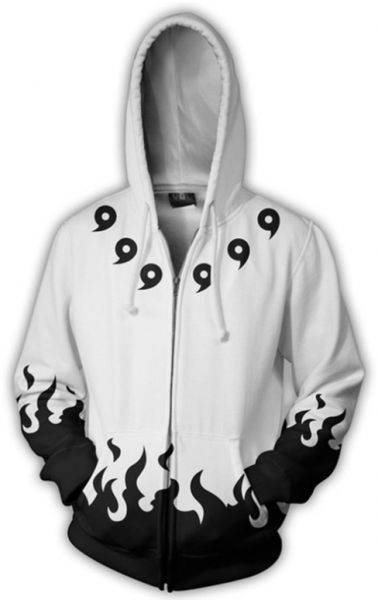 e0b5488f0f9 Anime NARUTO pattern printing Hoodie Sweater round neck long sleeve Tops-L