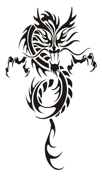 1 Pcs Selling Temporary Art Arm Neck Totem Dragon Tattoos Paper For