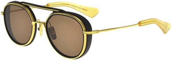 842b2d58f6 Dita Spacecraft Sunglasses in Round Gold Frame with Brown Lens Unisex. by  Dita