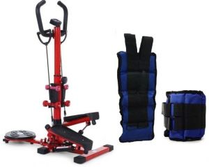 Stepper 4 in 1, Red, QN-B307-1 with Sand Weight for Arms and Feet, 2 km 2398cbe7c0